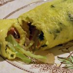 Nori Omelette with Stir-fried Veggies