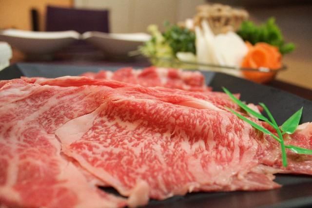 霜降り牛肉としらたき