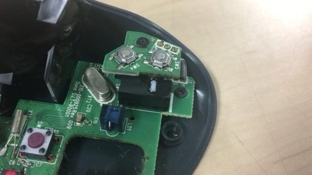 トラックボールマウスのスイッチ