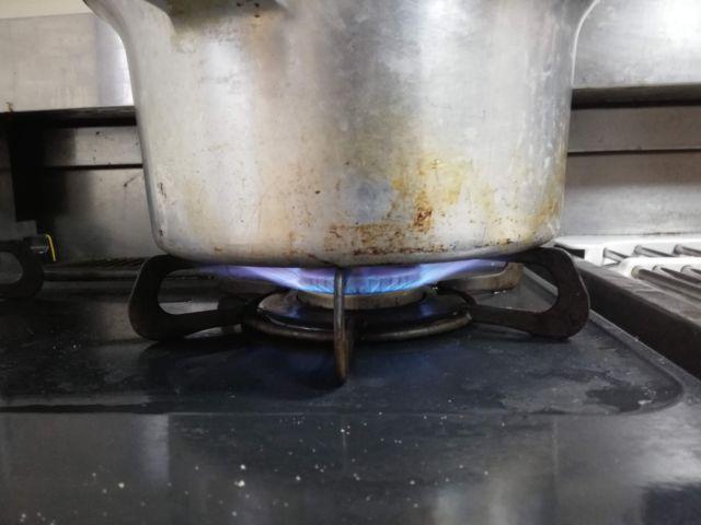 圧力鍋の火加減