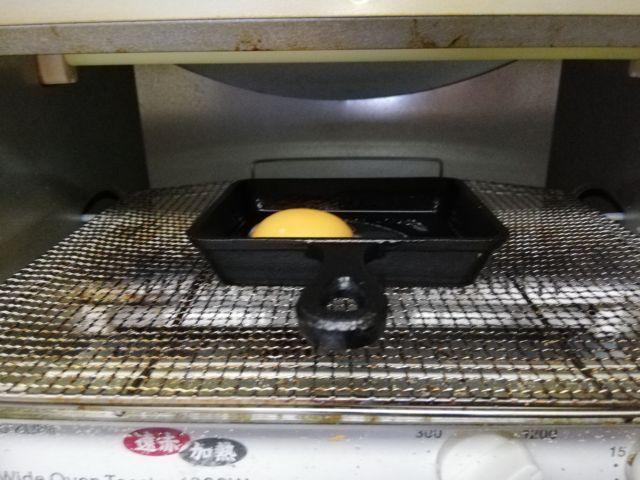 トースターにスキレットとたまご