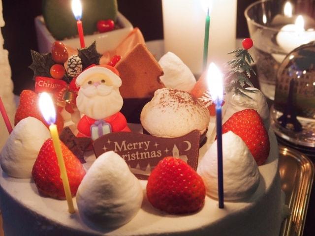 クリスマスケーキの裏側