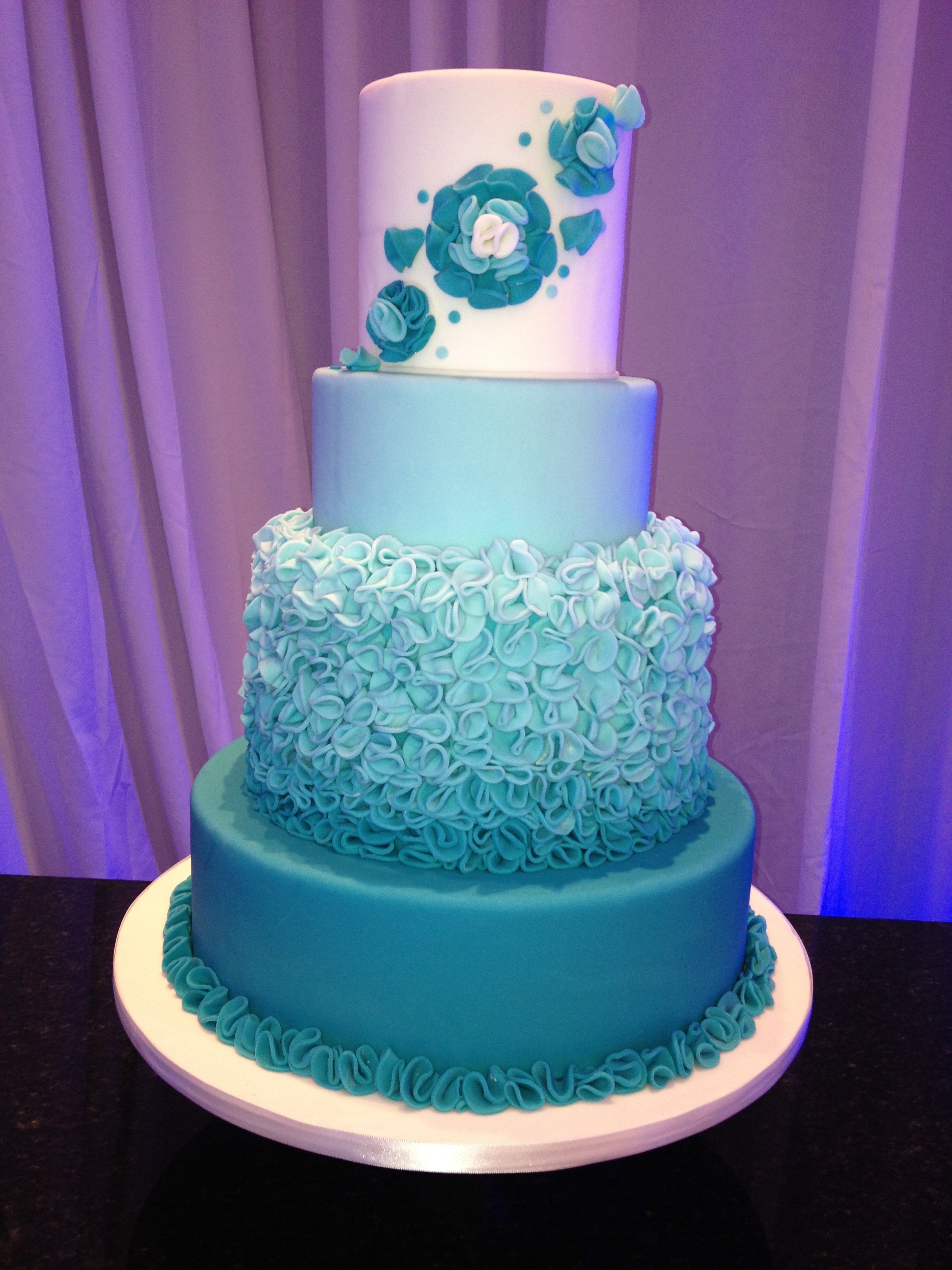 Ombre Metallic Tall Towers Wedding Cake Trends This Year