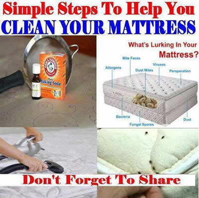 What A Great Inexpensive Way To Clean Your Mattress