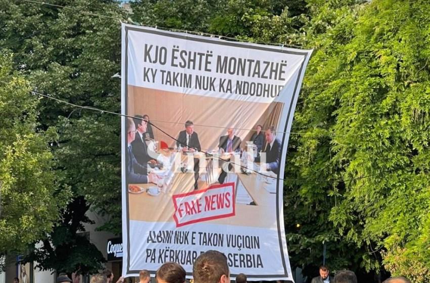 """PSD: """"Ky takim nuk ka ndodhur, lideri suprem nuk han kifle me Vuçiqin pa kërku falje Serbia"""""""