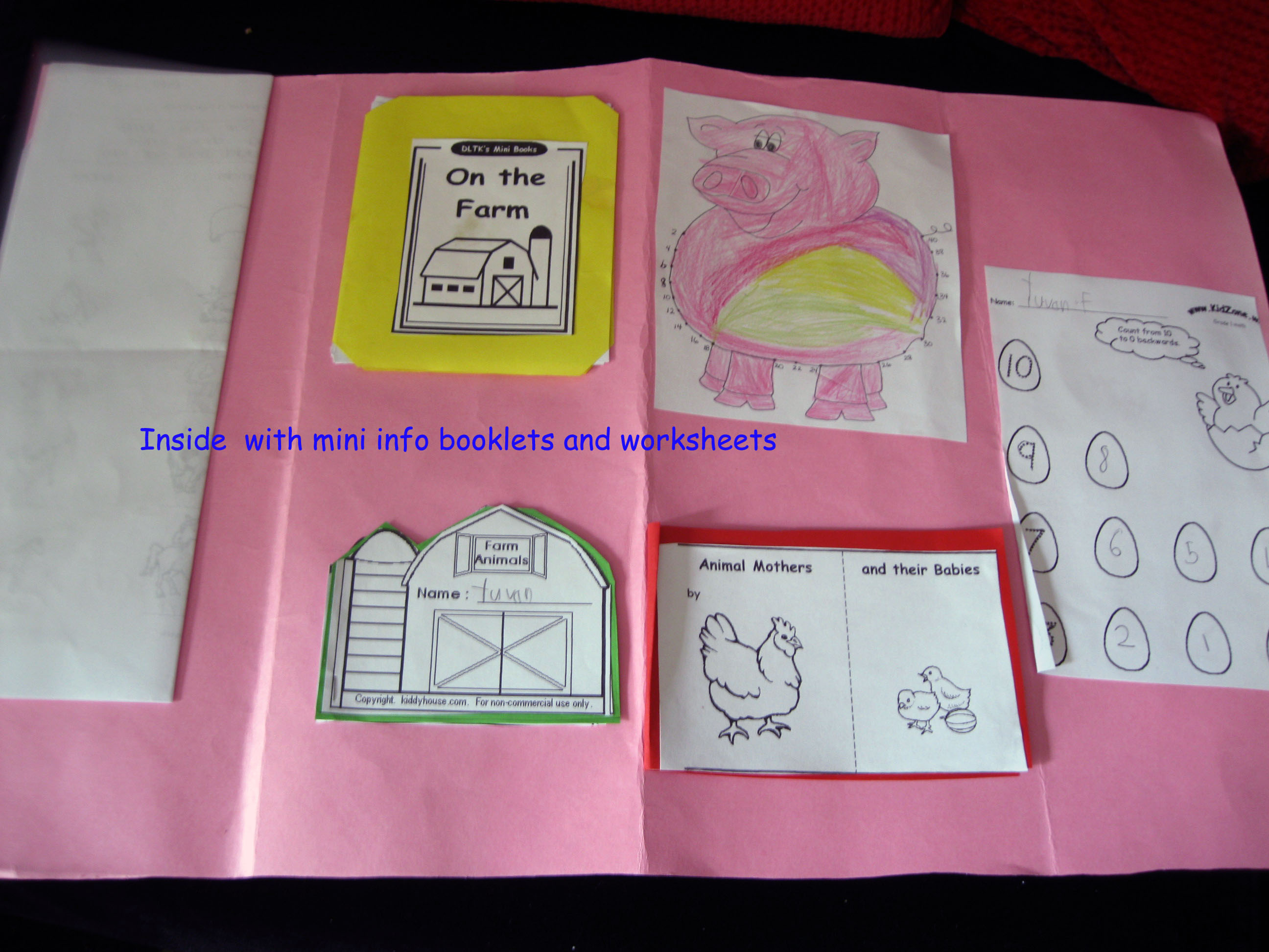 Farm Animals Lapbook Suheez Brainwaves