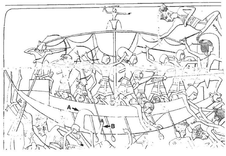 エジプト 海戦 水中考古学