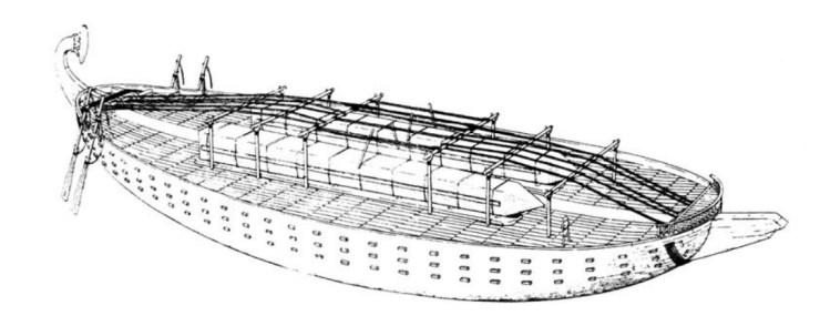 オベリスク バージ エジプト 水中考古学