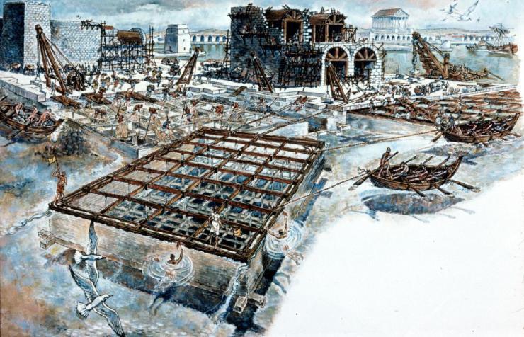 ローマ帝国 港 2