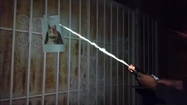 Dangerous burning lightsaber 012
