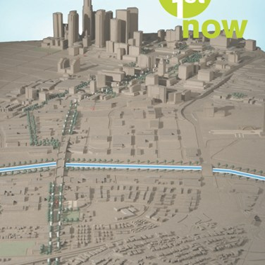 A conceptual master plan for First Street in Los Angeles coordinates street operations, streetscapes and programming