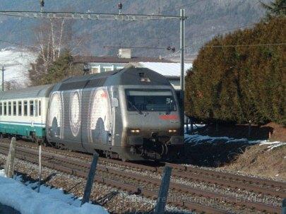 CH - CFF Re 460 livrée publicitaire Märklin à Aigle