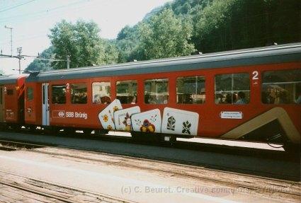 CH - CFF Brünig, voiture-Jass