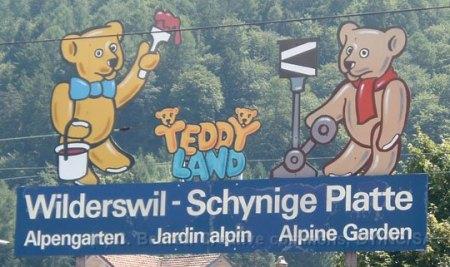CH - SPB panneau indicateur du chemin de fer de la Schynigge Platte à Wilderswil
