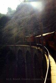 F - chemin de fer de la Mure, viaduc des Vaulx