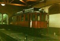 F - chemin de fer de la Mure. ABDe 4/4 ex-NStCM au dépôt de St-Georges