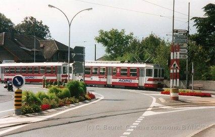 CH - TPC - AOMC à Aigle. Les rails au premiers plans sont ceux de l'ASD