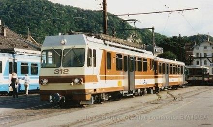 CH - TPC - AL en gare d'Aigle
