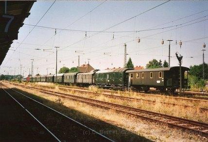 D - Nördlingen, voitures au musées bavarois du chemin de fer