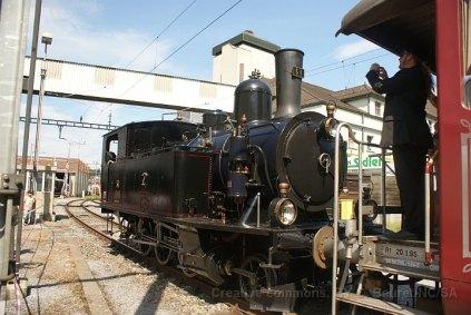 L'Ed 3/4 51 du Dampfbahn Bern est aussi venu avec une course spéciale depuis Konolfingen
