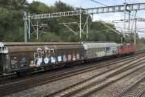 On constate que le train de marchandises passe par le tunnel du Grauholz.