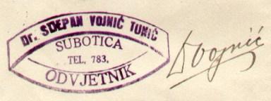 VOJNIC TUNIC STJEPAN III 269 1925