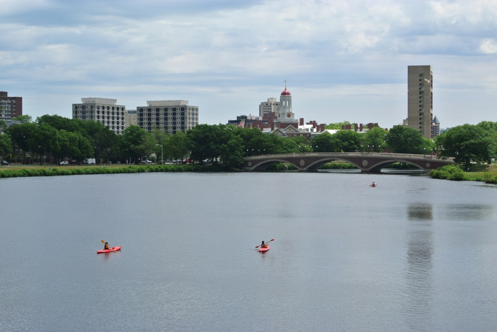 Kayakers in the Charles River Boston