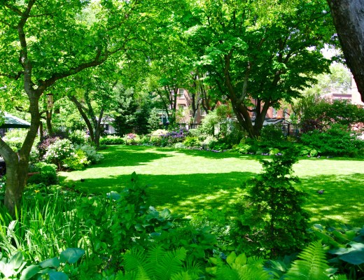 Jefferson Park Garden in Greenwich Village, New York City.