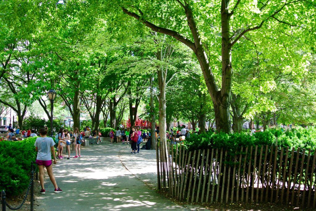 Washington Market Garden, a great kids playground.