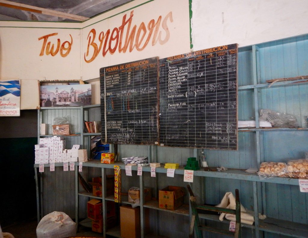 Rations store in Havana, Cuba.