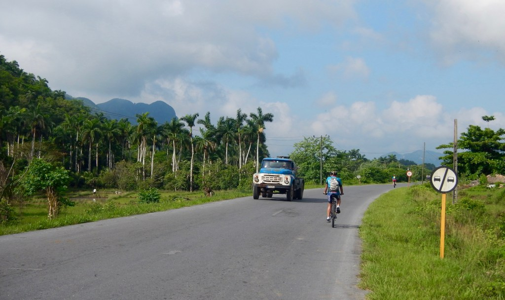 Cycling through tobacco country in northwestern Cuba.