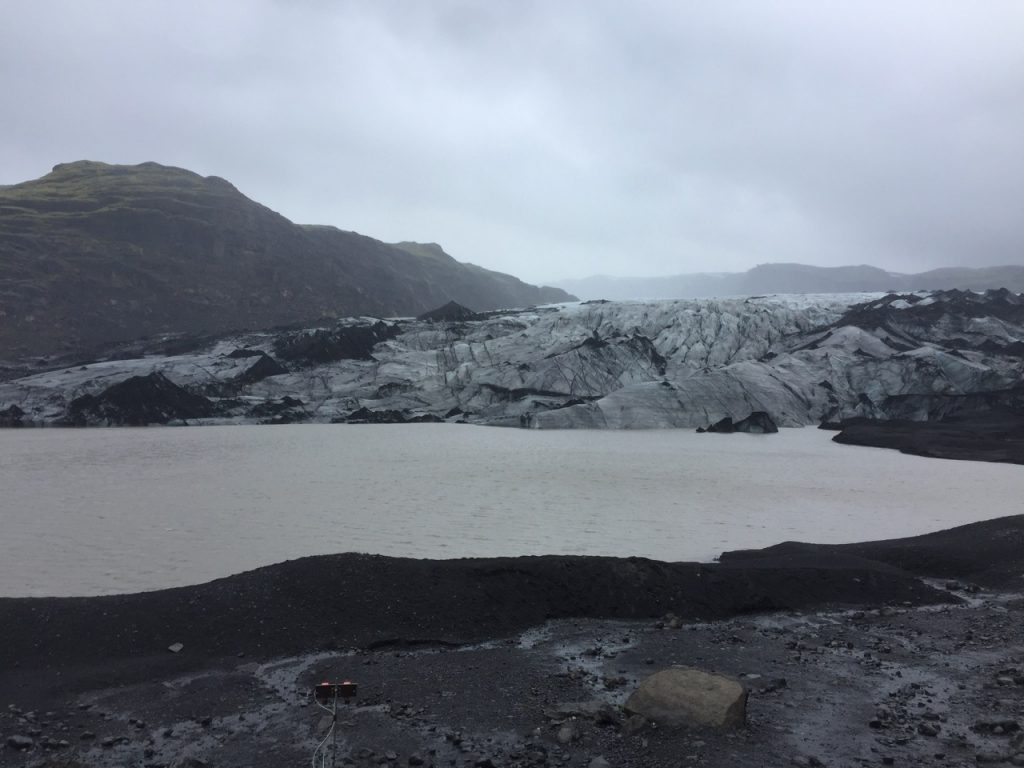 Sólheimajökull glacier in south Iceland.