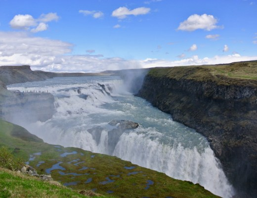 The spectacular Gullfoss waterfall, one of the three main attractions on Iceland's Golden Circle.