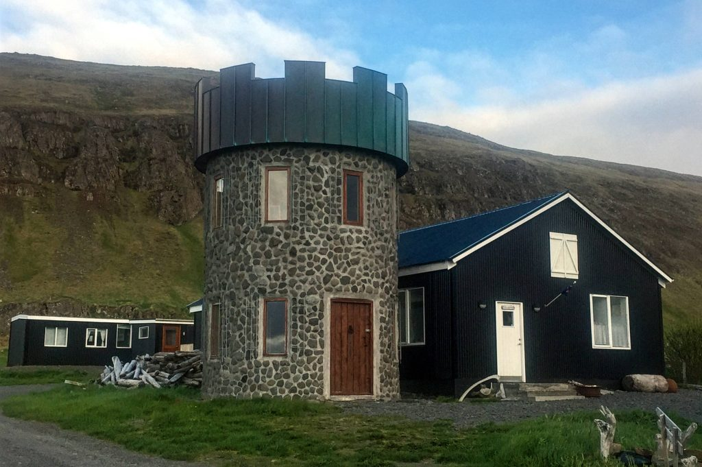 The family owned and run Geitafell restaurant in North Iceland.