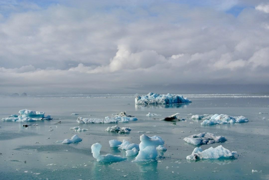 The stunning Jokulsarlon Glacier Lagoon in southeast Iceland.