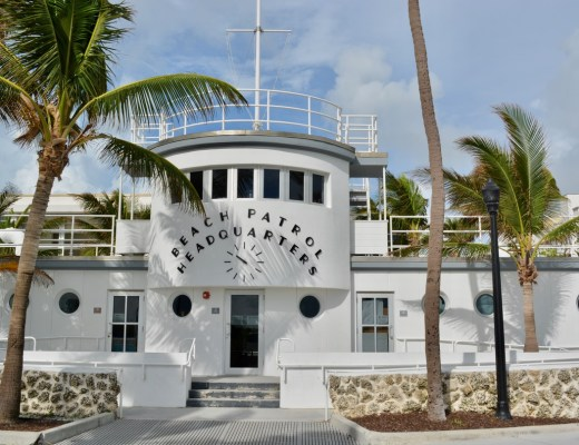 The beautiful Art Deco South Beach Miami surf patrol headquarters
