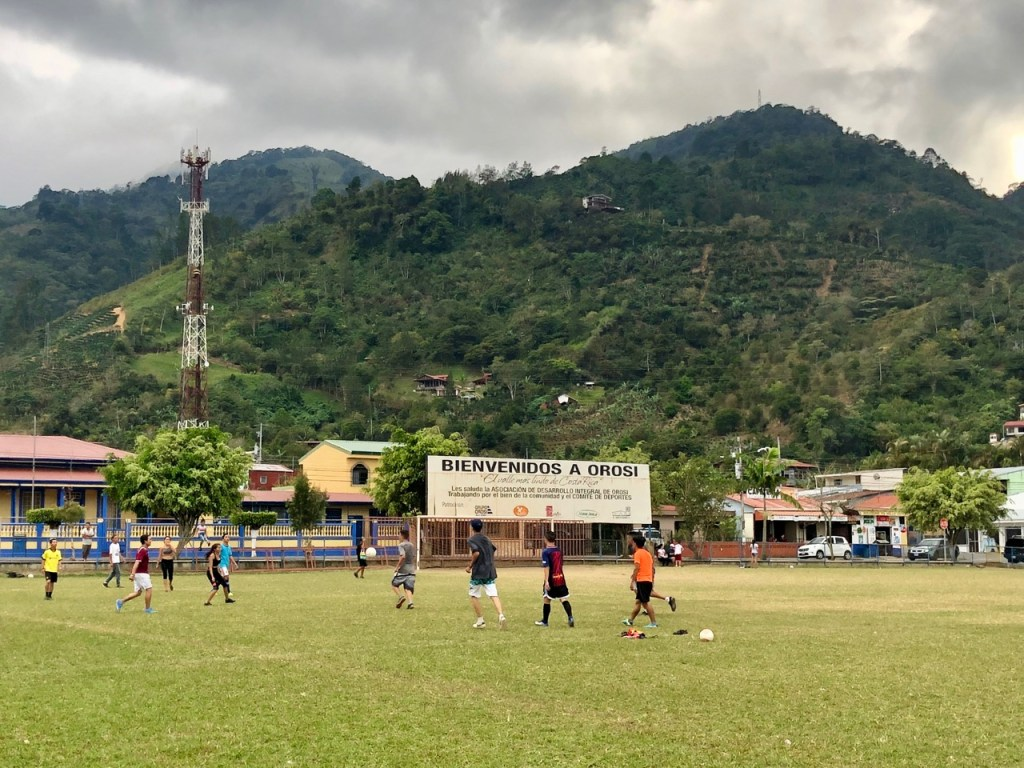 The small towns in Costa Rica generally had a central soccer field where the locals gravitated.