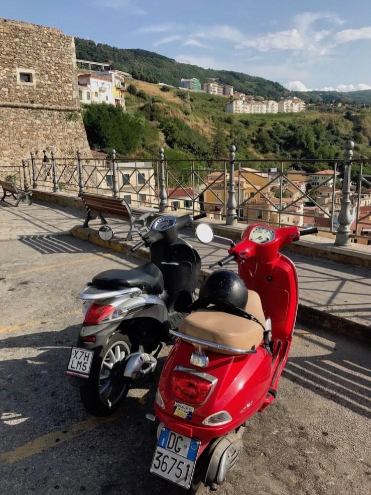 vespas in Italy