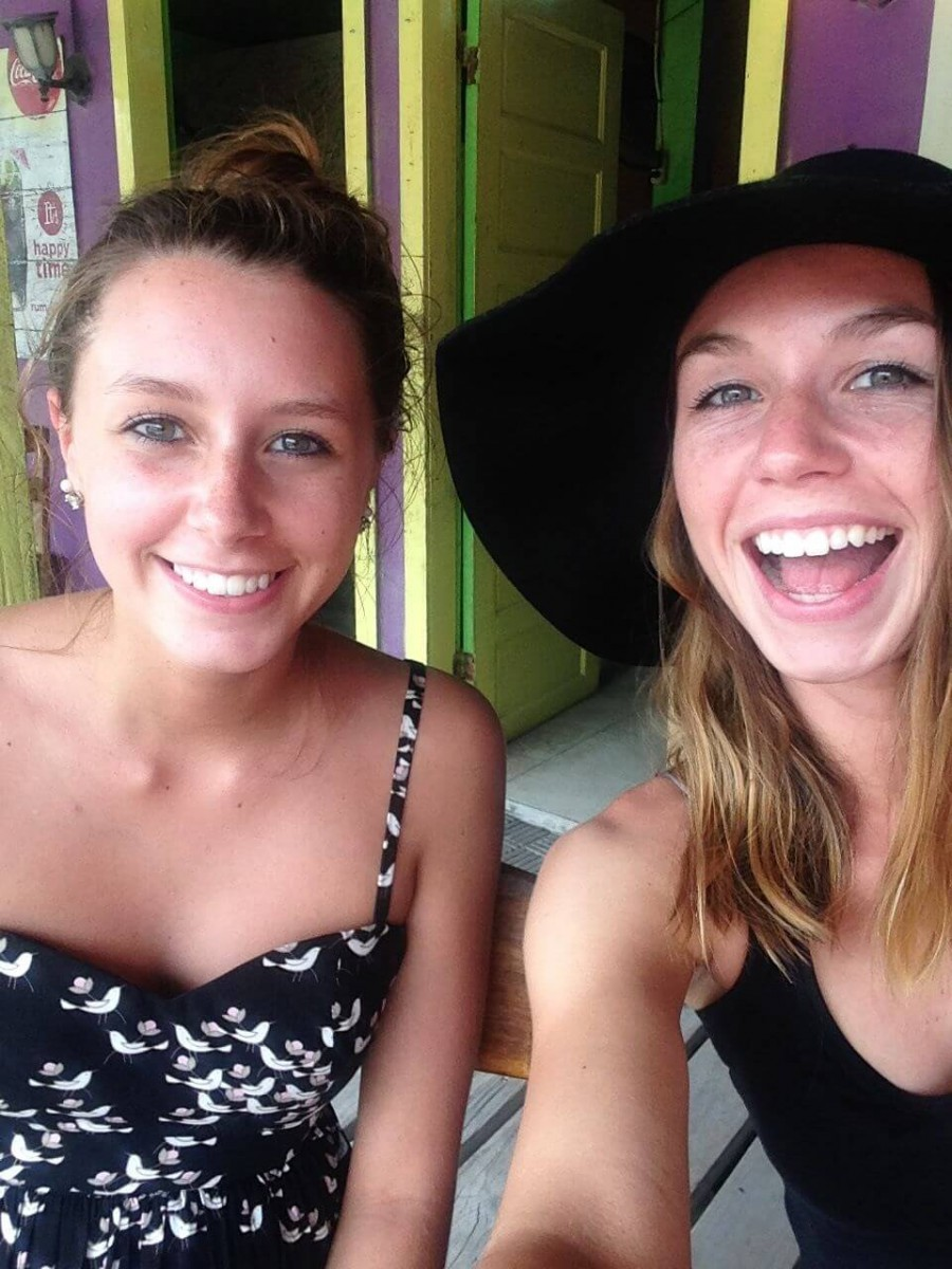Sarah and Emily in Belize