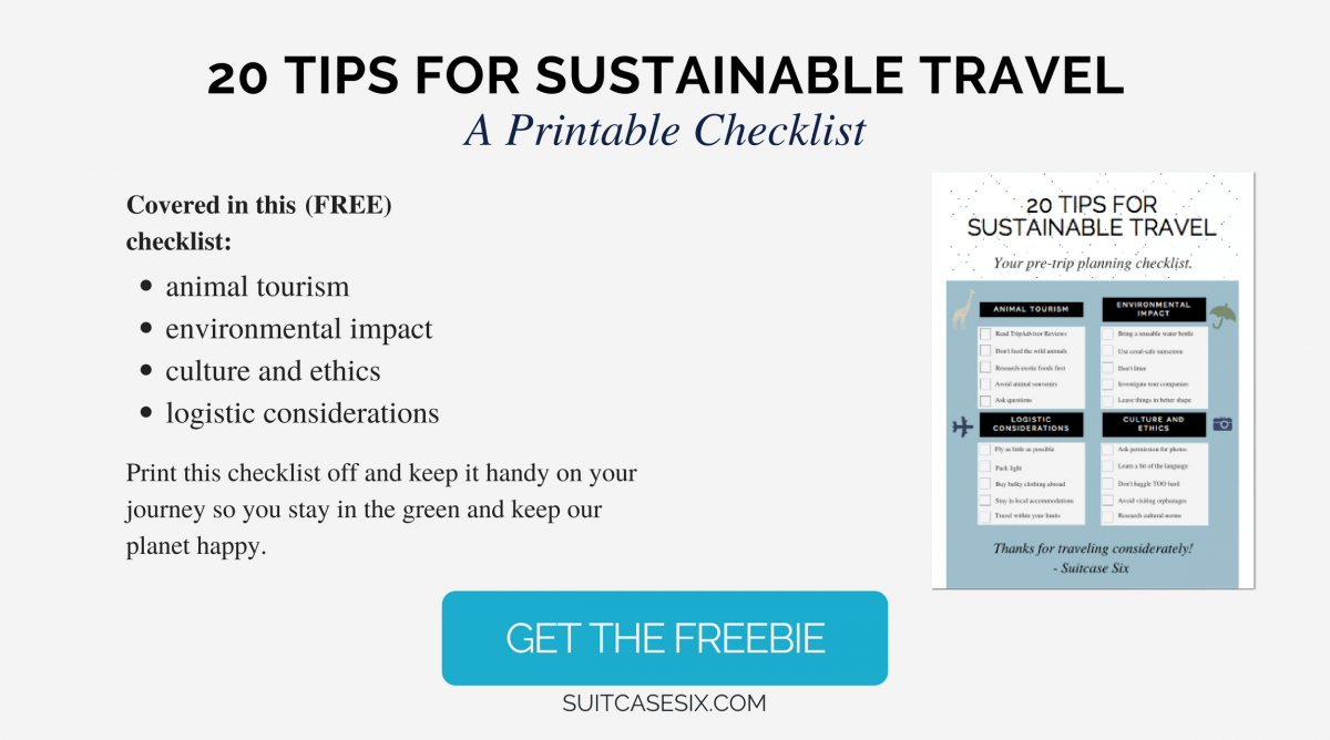 Suitcase Six Copy-of-Sustainable-Travel-Freebie-Landing-Page Fair Trade: What's it got to do with travel?