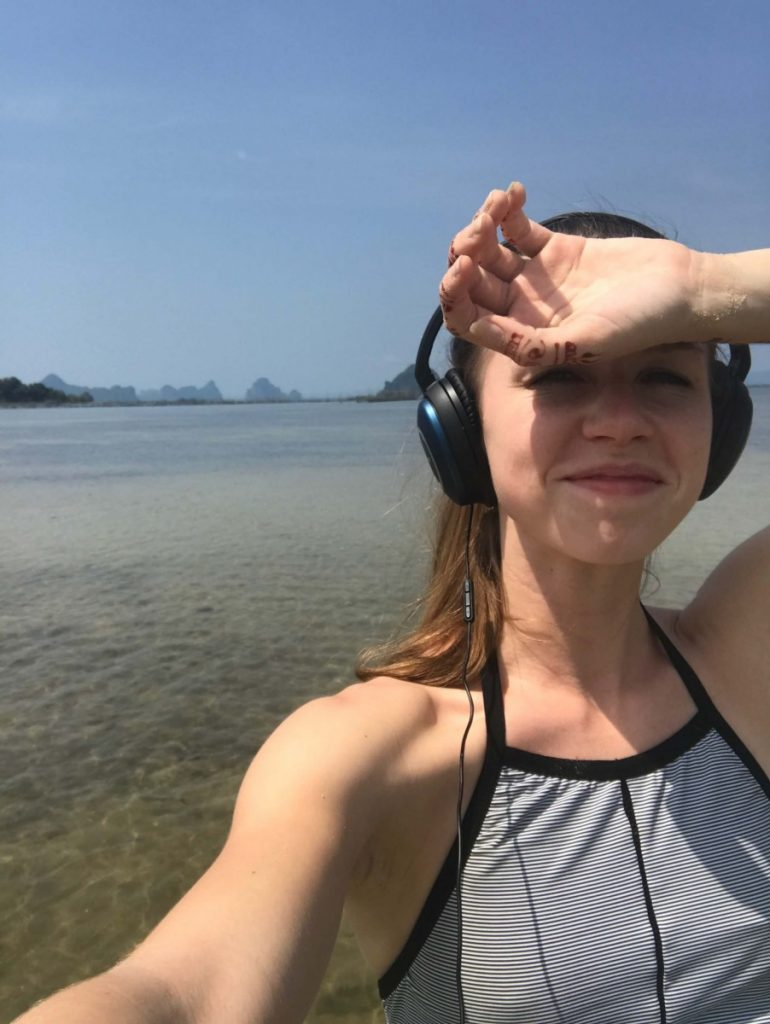 krabi beach selfie