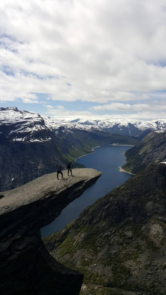 abbey at trolltunga in norway