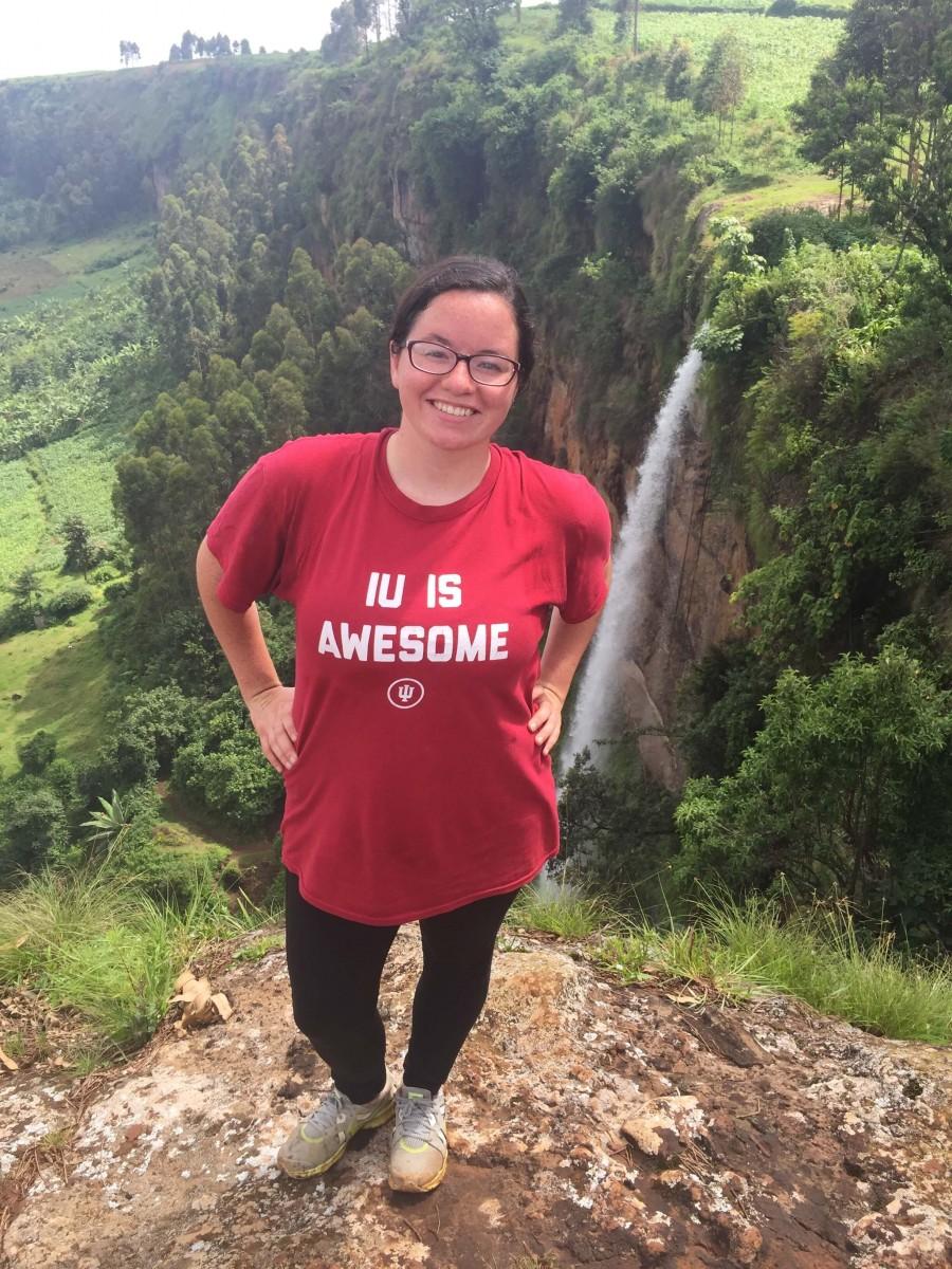 Anna on a hike in Uganda