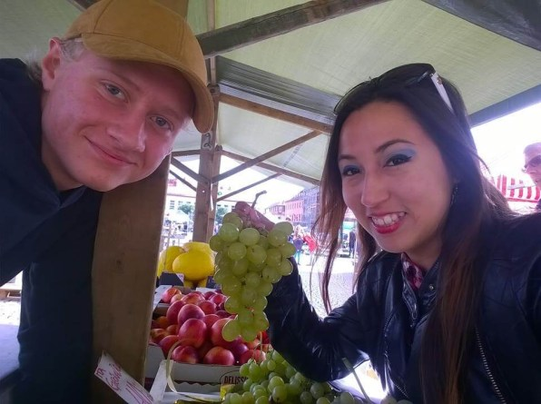 Suitcase Six Karem-at-fruit-stand Woman of the Week: Karem