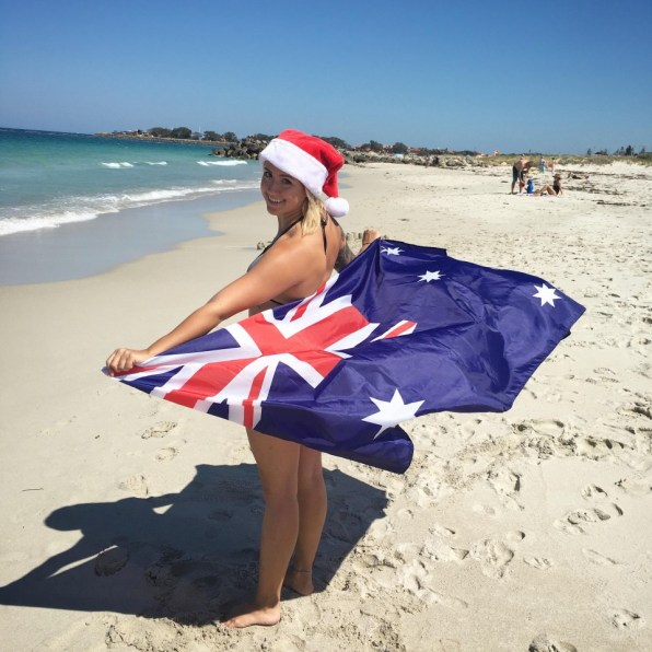 Suitcase Six Becca-with-Australian-Flag Woman of the Week: Becca
