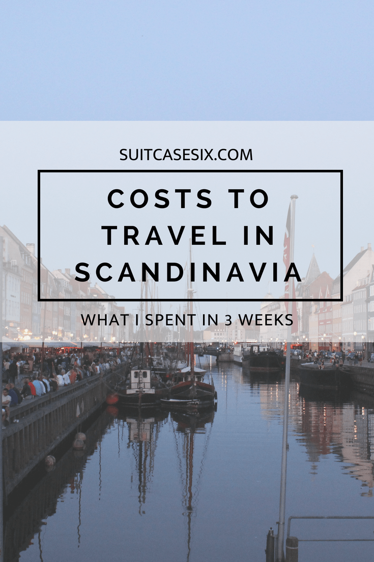 Suitcase Six SCANDINAVIA-COSTS-PIN Costs of Travel in Scandinavia: What I Spent in 3 Weeks
