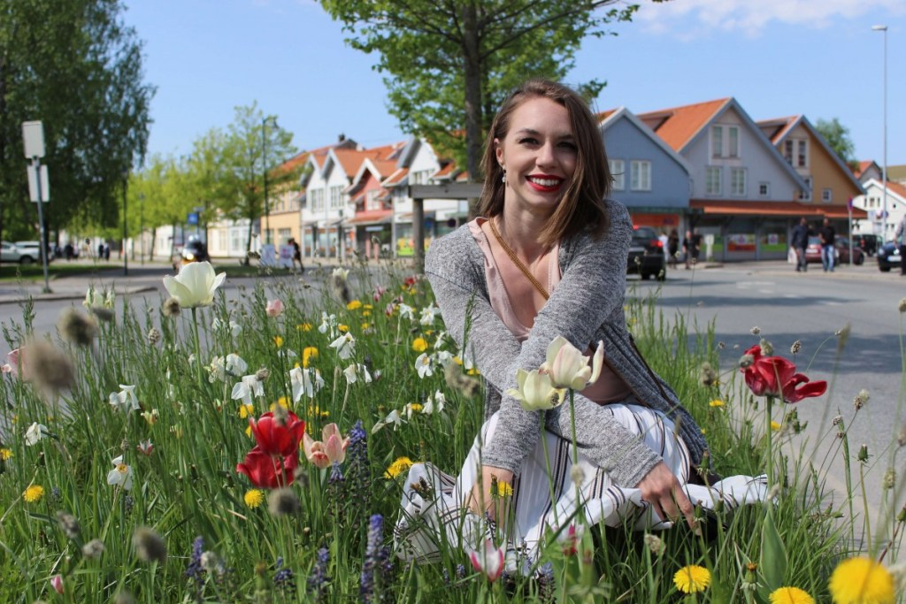 Suitcase Six Sarah-in-flowers-1024x683 Costs of Travel in Scandinavia: What I Spent in 3 Weeks