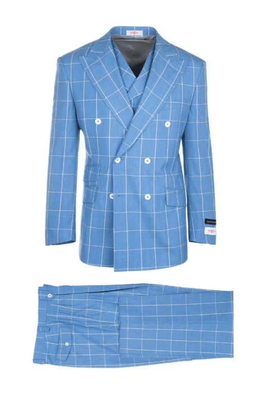 Tiglio Russo Wide Leg Double Breast Suit & Vest – 404150/2