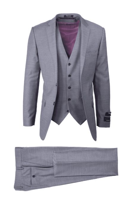 Tiglio Luxe 3Pc Suit Light Gray – Sienna E09063/26