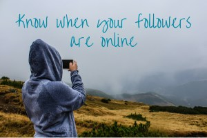 know when your followers are online